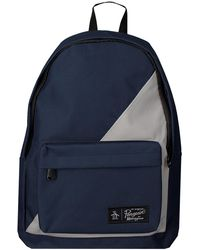 Original Penguin Blauwe Rugtas Hombold Block Backpack