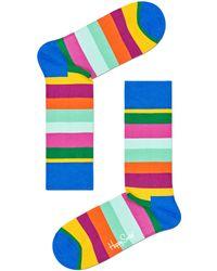 Happy Socks - Mehrfarbige/bunte Socken Stripe Sock - Lyst