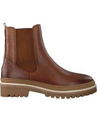 Tommy Hilfiger Cognacfarbene Stiefeletten RUGGed Classic Boot - Braun