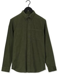 SELECTED Groene Casual Overhemd Slhregrick-cord Shirt Ls W