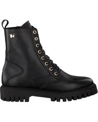Tommy Hilfiger Zwarte Veterboots Shaded Th Bootie