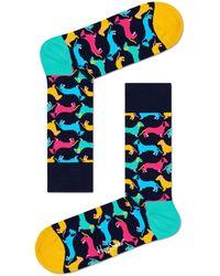 Happy Socks Mehrfarbige/bunte Socken Dog Sock - Blau