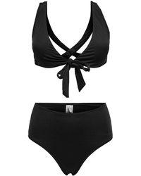 ONLY Crossback Bikini - Schwarz
