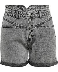 ONLY Onlturner Life Hw 80ties Denim Short Dames Zwart