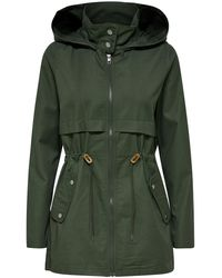 ONLY - Seizoens Parka Dames Green - Lyst