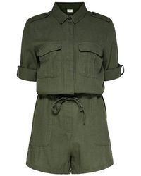 ONLY 3/4-ärmel Playsuit - Grün
