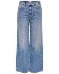 ONLY Onlmai Hw Wijde Straight Fit Jeans Dames - Blauw