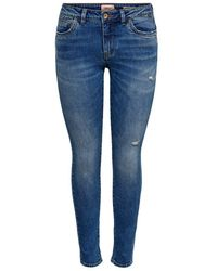 ONLY Onlcarmen Reg Ankle Skinny Fit Jeans - Blau