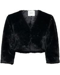 ONLY Faux Fur Bolero Dames Zwart