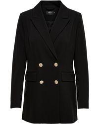 ONLY Button Coat - Zwart