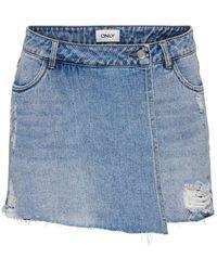 ONLY Onltexas Life Reg Skort Jeansshorts - Blau