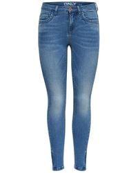 ONLY Onlkendell Ankle Zip Skinny Fit Jeans - Blau