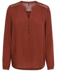 ONLY Loose Fit Overhemd Dames Rood - Bruin