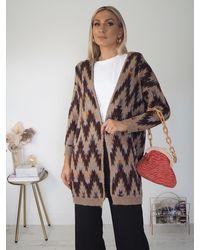 Ontrend Freya Wool Coat - Multicolour