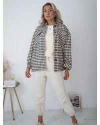 Ontrend Tara Check Coat - Multicolour