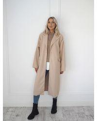 Ontrend Bianca Beige Maxi Coat - Natural