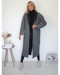 Ontrend Delphine Overcoat - Grey