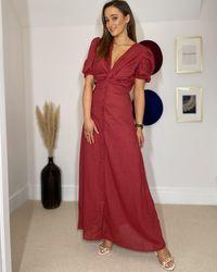Ontrend June Wine Dress - Red