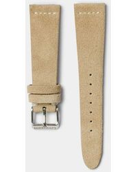 Hestrap Beige Pippen Suede Watch Strap - Natural