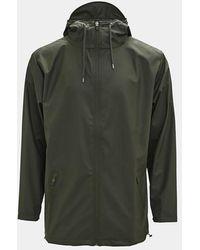 Rains Green Breaker Coat