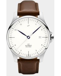 About Vintage - White / Steel 1971 Swiss Made Automatic Watch - Lyst