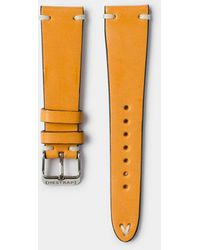 Hestrap Orange Zico Leather Watch Strap