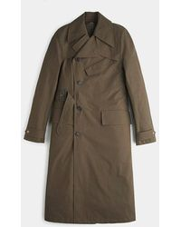 Private White V.c. Khaki Ventile Motor Trench Coat - Natural