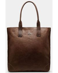 Bennett Winch Brown Full Leather Tote Bag