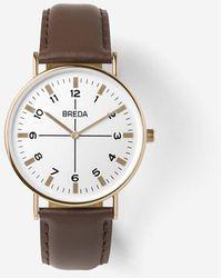 Breda - Rose Gold / Brown Belmont Watch - Lyst