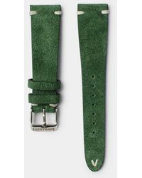 Hestrap Green Zico Suede Watch Strap