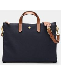 Mismo Midnight Blue / Cuoio M/s Brief Bag