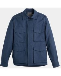 Private White V.c. Navy Desert Jacket - Blue