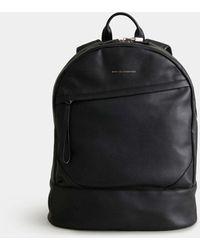 Want Les Essentiels De La Vie Black Leather O'hare Kastrup Backpack