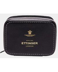Ettinger Black Small Travel Zip Box