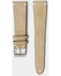 Hestrap Beige Zico Suede Watch Strap - Natural