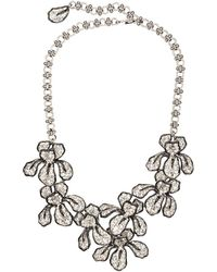 Kenneth Jay Lane - Crystal Flower Necklace - Lyst