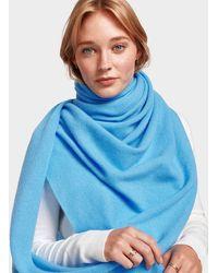 Cashmere Travel Wrap - Blue