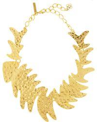 Oscar de la Renta - Hammered Fish Necklace - Lyst