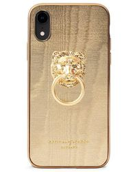 Aspinal of London Lion Iphone Xr Cover With Gold Edge - Metallic