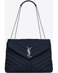Lyst - Saint Laurent Monogram Loulou Small Leather Shoulder Bag in ... eeab8e48cab06