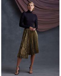 Bailey 44 Rothchild Pleated Skirt - Metallic