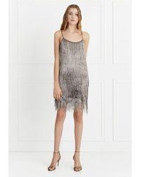 50ff1a60ff17 Rachel Zoe - Della Metallic Fringe Mini Dress - Lyst