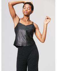 VEDA Leather Camisole - Black