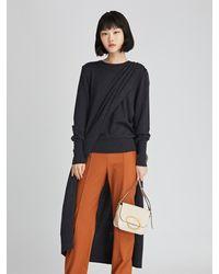 Oscar de la Renta Draped Wool Silk Pullover - Multicolor