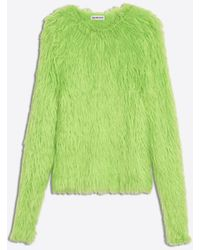 aa7842cb3517 Lyst - Balenciaga Pink Oversoft Fluffy Sweater in Pink - Save 56.0%