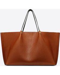 a84b05c9d5c Valentino Large Go Logo Escape Straw Shopper Bag in Natural - Lyst