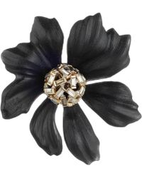 Alexis Bittar - Crystal Baguette Cluster Flower Pin - Lyst