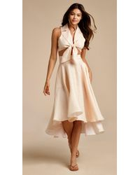 1750a0897b68d Miguelina - Jackie Gingham Bow Skirt - Lyst