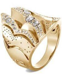 John Hardy - Saddle Ring With Diamonds - Lyst