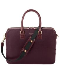 Aspinal of London Small Mount Street Bag - Purple